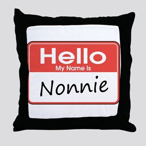 Hello, My name is Nonnie Throw Pillow
