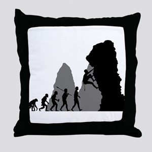 Rock Climbing Throw Pillow