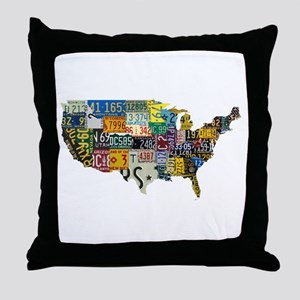 america license Throw Pillow
