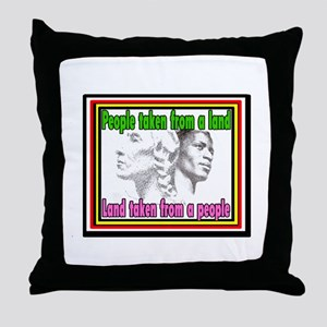 Native Americans and Black Americans Throw Pillow