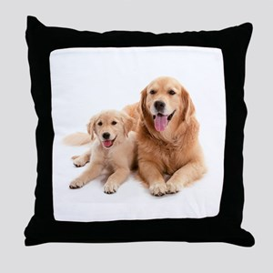 Golden retriever buddies Throw Pillow