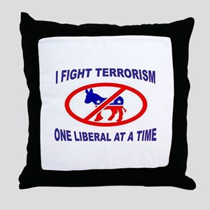 USA TERRORISTS Throw Pillow