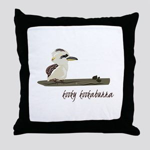 Kooky Kookaburra Throw Pillow