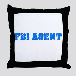 Fbi Agent Blue Bold Design Throw Pillow