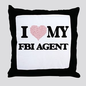 I love my Fbi Agent (Heart Made from Throw Pillow