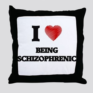 being schizophrenic Throw Pillow