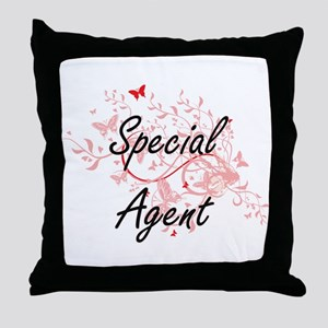 Special Agent Artistic Job Design wit Throw Pillow