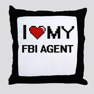 I love my Fbi Agent Throw Pillow