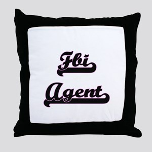 Fbi Agent Classic Job Design Throw Pillow