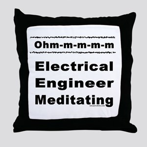 Meditating Engineer Ohm Throw Pillow