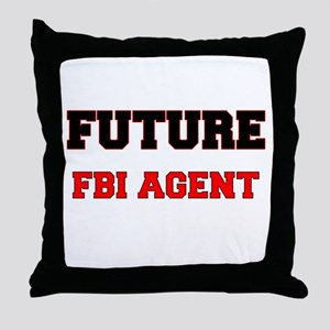 Future Fbi Agent Throw Pillow