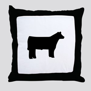 Steer Throw Pillow