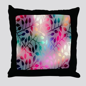 Leaf Rainbow Throw Pillow