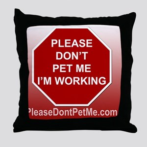 PDPM Im working mousepad Throw Pillow