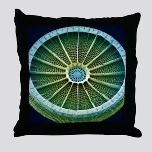 Diatom, SEM Throw Pillow