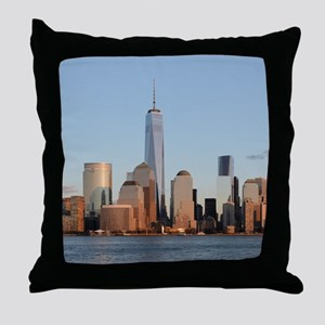 Lower Manhattan Skyline, New York Cit Throw Pillow