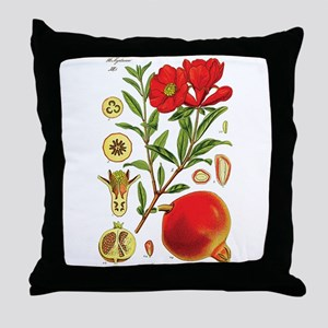 Vintage Pomegranate Throw Pillow