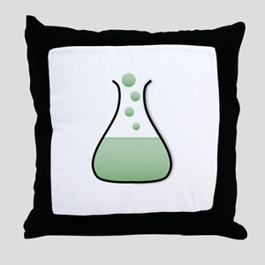 Chemistry Flask Throw Pillow