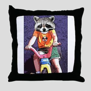 Crazy Raccoon Raccoon Mask Funny Raccoon Photo Pillows