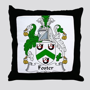 Foster Family Crest Throw Pillow
