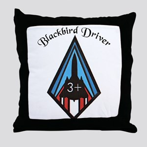 Blackbird Driver Throw Pillow