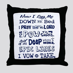 Snow Prayer Throw Pillow