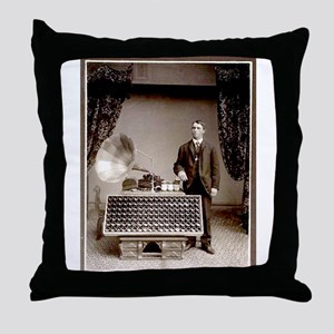 The Phonograph Throw Pillow