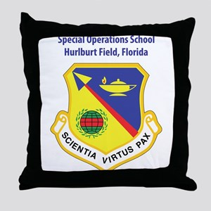 Special Operations School Throw Pillow