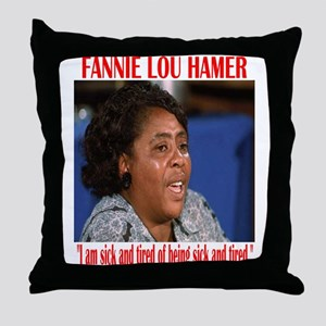 Fannie Lou Hamer Throw Pillow