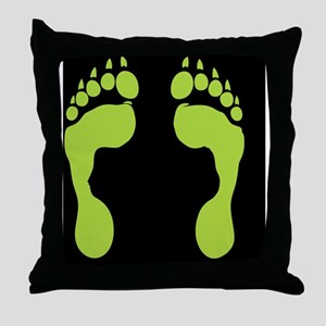 Wolf Footprint Pillows Cafepress