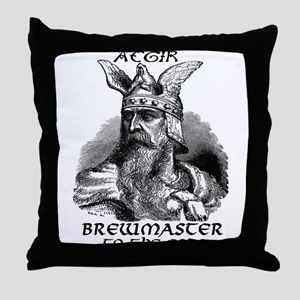 Aegir Viking Brewmaster Throw Pillow