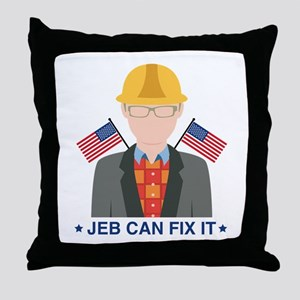 Jeb Can Fix It Throw Pillow