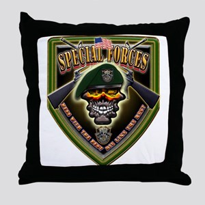 US Army Special Forces Shield Throw Pillow