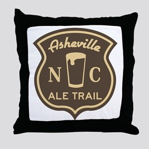 Asheville Ale Trail Logo Throw Pillow