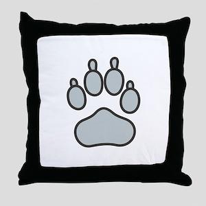 Wolf Footprint Pillows Cafepress