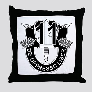 11th Special Forces - DUI - No Txt Throw Pillow