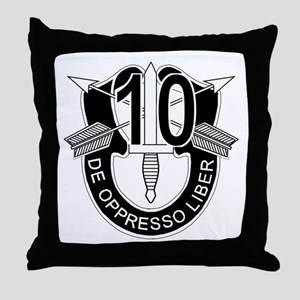 10th Special Forces - DUI - No Txt Throw Pillow