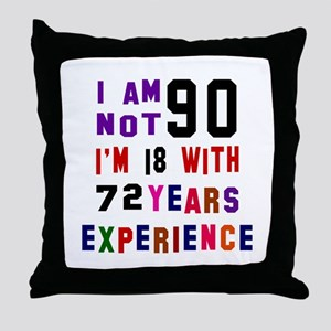 90 Birthday Designs Throw Pillow