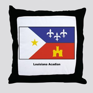 Louisiana Acadian Flag Throw Pillow