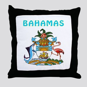 Bahamas Coat of arms Throw Pillow