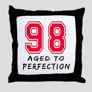98 Year birthday designs Throw Pillow