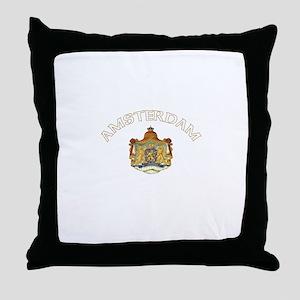 Amsterdam, Netherlands Coat o Throw Pillow