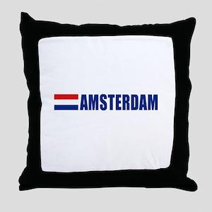 Amsterdam, Netherlands Throw Pillow