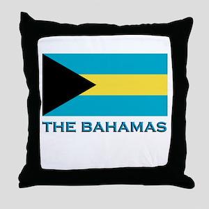 The Bahamas Flag Gear Throw Pillow