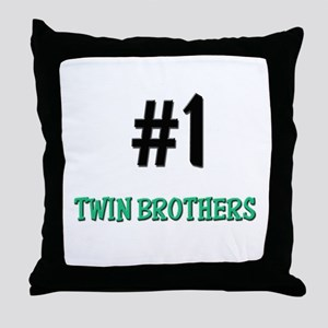 Number 1 TWIN BROTHERS Throw Pillow
