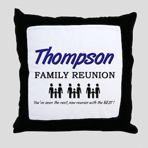Thompson Family Reunion Throw Pillow