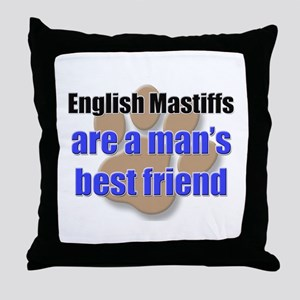 English Mastiffs man's best friend Throw Pillow