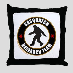 SASQUATCH RESEARCH TEAM Throw Pillow