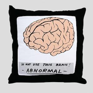 young-f-brain-no-yf-black-text Throw Pillow