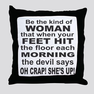 Oh Crap Devil Throw Pillow